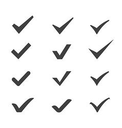 Ticks icons vector