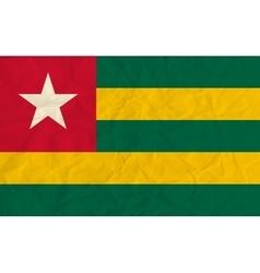Togo paper flag vector