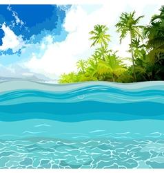 View through the depths of the ocean shore vector
