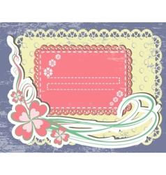 vintage flower frame vector image vector image
