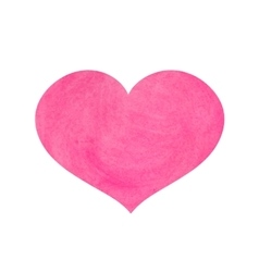 Watercolor pink heart for valentine s day vector