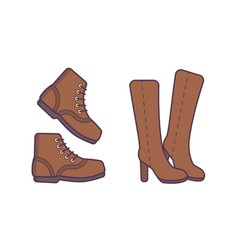 winter or autumn shoes isolated vector image