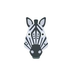 Zebra african animals stylized geometric head vector