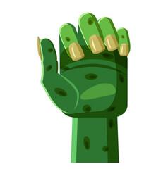 Zombi arm icon cartoon style vector