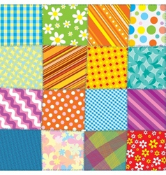 Quilt Patchwork Texture Seamless Pattern vector image