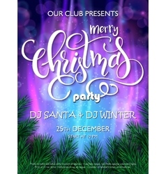 christmas party flyer with vector image