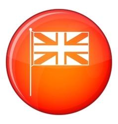 Uk flag icon flat style vector