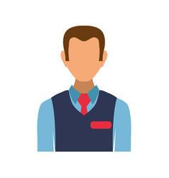 sales advisor avatar vector image