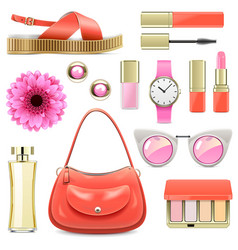 Fashion accessories set 7 vector