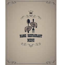 Menu in retro style vector