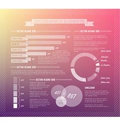 Transparent set of Infographic elements vector image