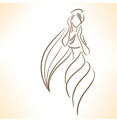 Symbolic silhouette of woman vector