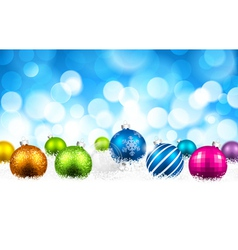 Christmas color balls vector