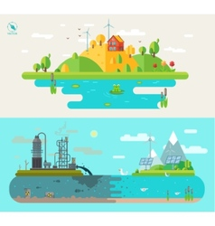 Set of flat design concept vector