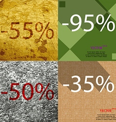 95 35 50 icon set of percent discount on abstract vector
