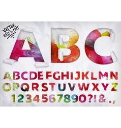 Wrapped alphabet watercolor vector