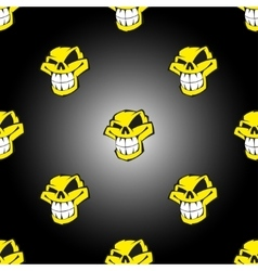 Seamless pattern background with skulls vector