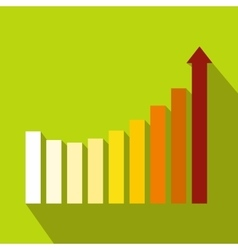 Business graph icon flat style vector
