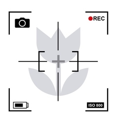 Focus camera design vector