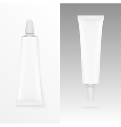 Tube of cream or gel grayscale white clean vector
