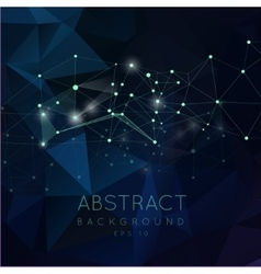 Abstract polygonal backgroun low poly design vector