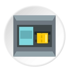 Atm machine icon flat style vector