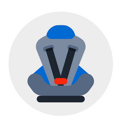 Baby car seat isolated security transportation vector