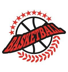 Basketball Badge with Stars vector image