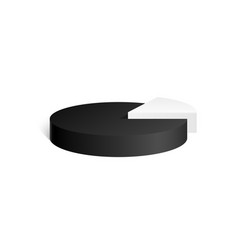 Black and white cylinder diagram 3d geometric vector