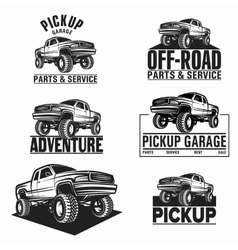 Car truck 4x4 pickup off-road logo vector
