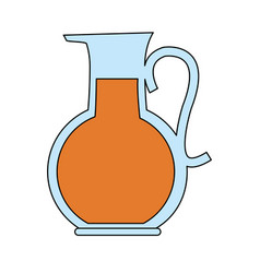 color image cartoon glass jar with juice vector image vector image