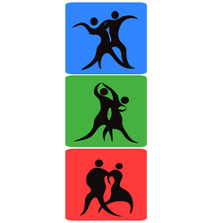 Dancing symbol buttons vector