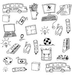 Doodle of school education object art vector