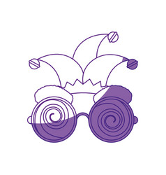 glasses jester cap vector image vector image
