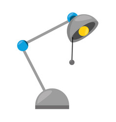 Isolated study lamp vector