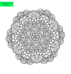 Mandala flower patterned vector