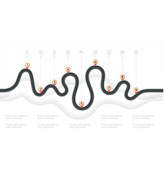 navigation map infographic 9 steps timeline vector image vector image