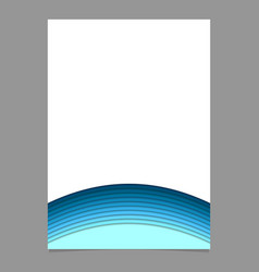 Page template from curved layers - stationery vector