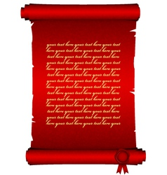 red scroll vector image vector image