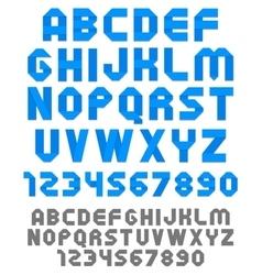 Ribbon font vector