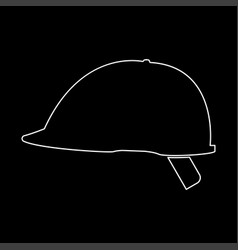Safety helmet the white path icon vector