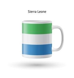 Sierra leone flag souvenir mug on white background vector