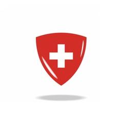 Swiss cross vector
