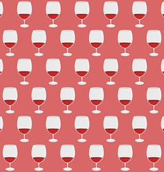 Vintage pattern with red wine glass silhouettes vector