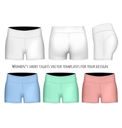 Women short tights vector