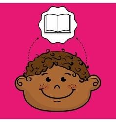 student boy study icon vector image