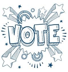 doodle pop vote vector image