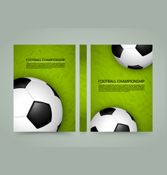 Soccer ball field banner sport cover a4 size vector