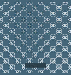 Abstract flower shape pattern background vector