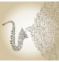 Saxophone5 vector image